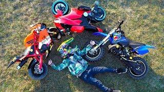 Senya is testing new motorcycles