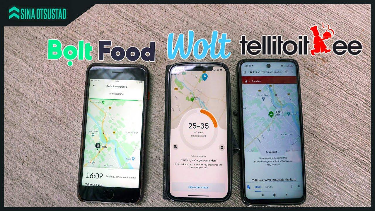 EKSPERIMENT: Wolt vs Bolt Food vs Tellitoit