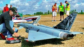 STUNNING BIG RC EUROFIGHTER TYPHOON SCALE MODEL TURBINE JET FLIGHT DEMONSTRATION