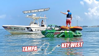 homepage tile video photo for I Tried To Drive My Supercharged Mini Jet Boat From Tampa Bay to Key West (240 Miles)