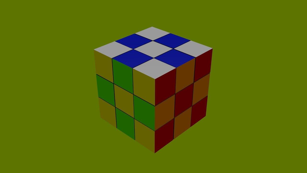 zauberw rfel rubiks cube tricks zum nachmachen karomuster animiert youtube. Black Bedroom Furniture Sets. Home Design Ideas