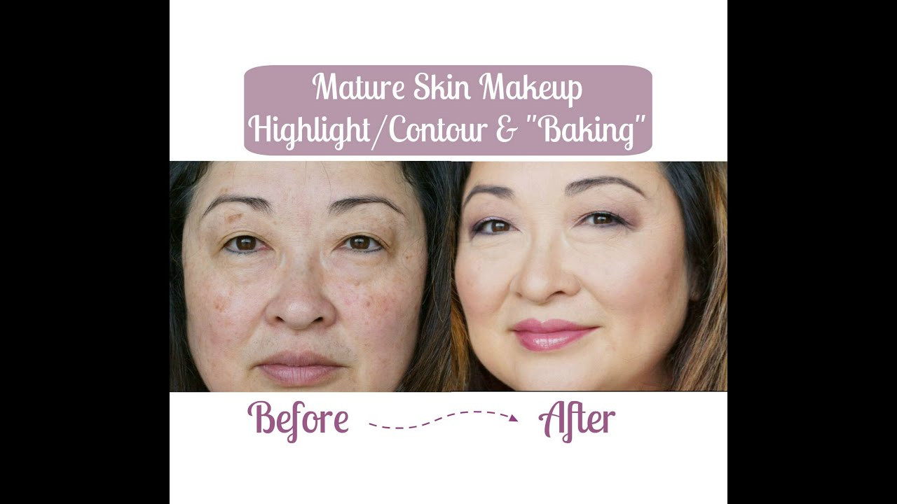 "mature skin makeup | highlight/contour & ""baking"" 