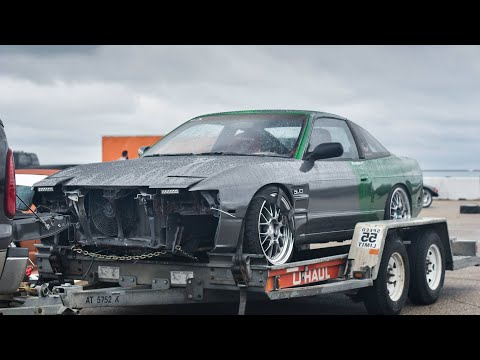 First Start Up of Mustang 5.0 Swapped 240sx!