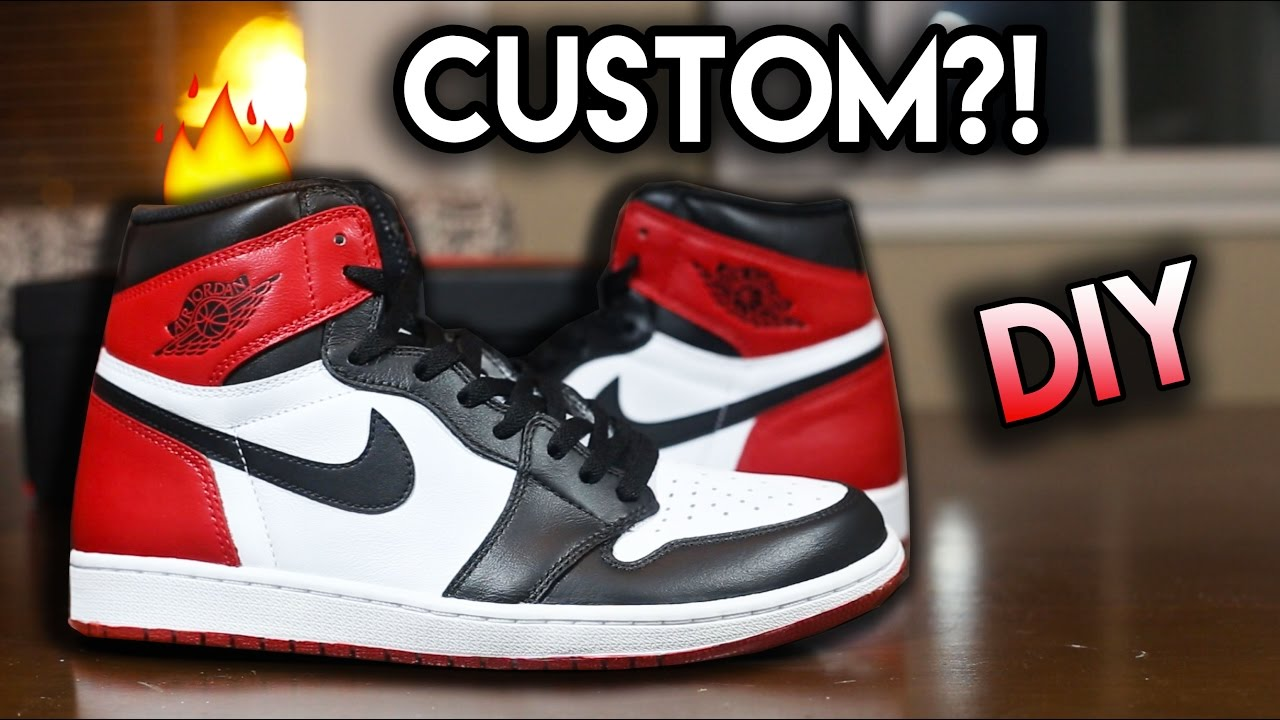 new styles 546d8 ad046 How To  Jordan Black Toe Custom From Yin Yang 1 s   Full Conversion  Tutorial - YouTube