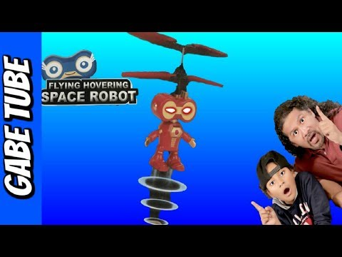 Top Toys FLYING HOVERING SPACE ROBOT UNBOXING & REVIEW Hand Command Flying Robot Gabe Tube TV