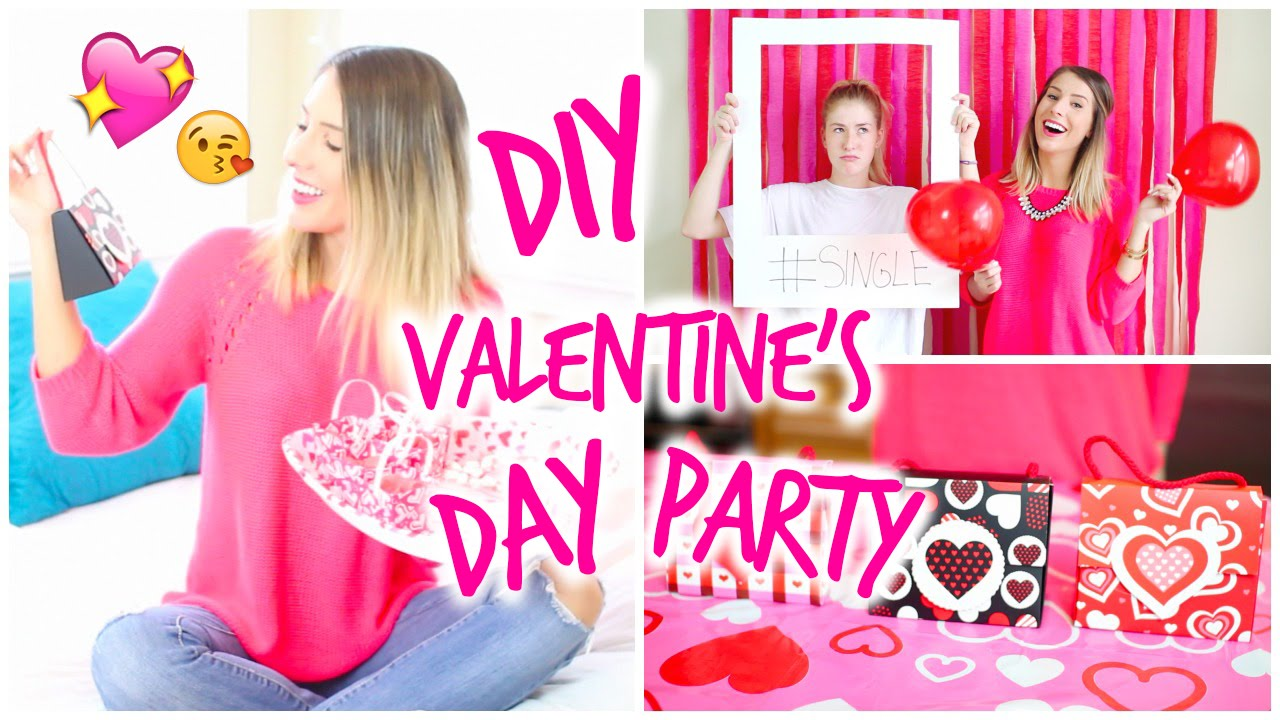 DIY Valentines Day Party Photo Booth Treats Amp Gift