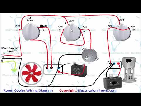 Air Room Water Cooler Wiring Diagram (Urdu/Hindi) - YouTube Home Cooler Wiring Diagram on