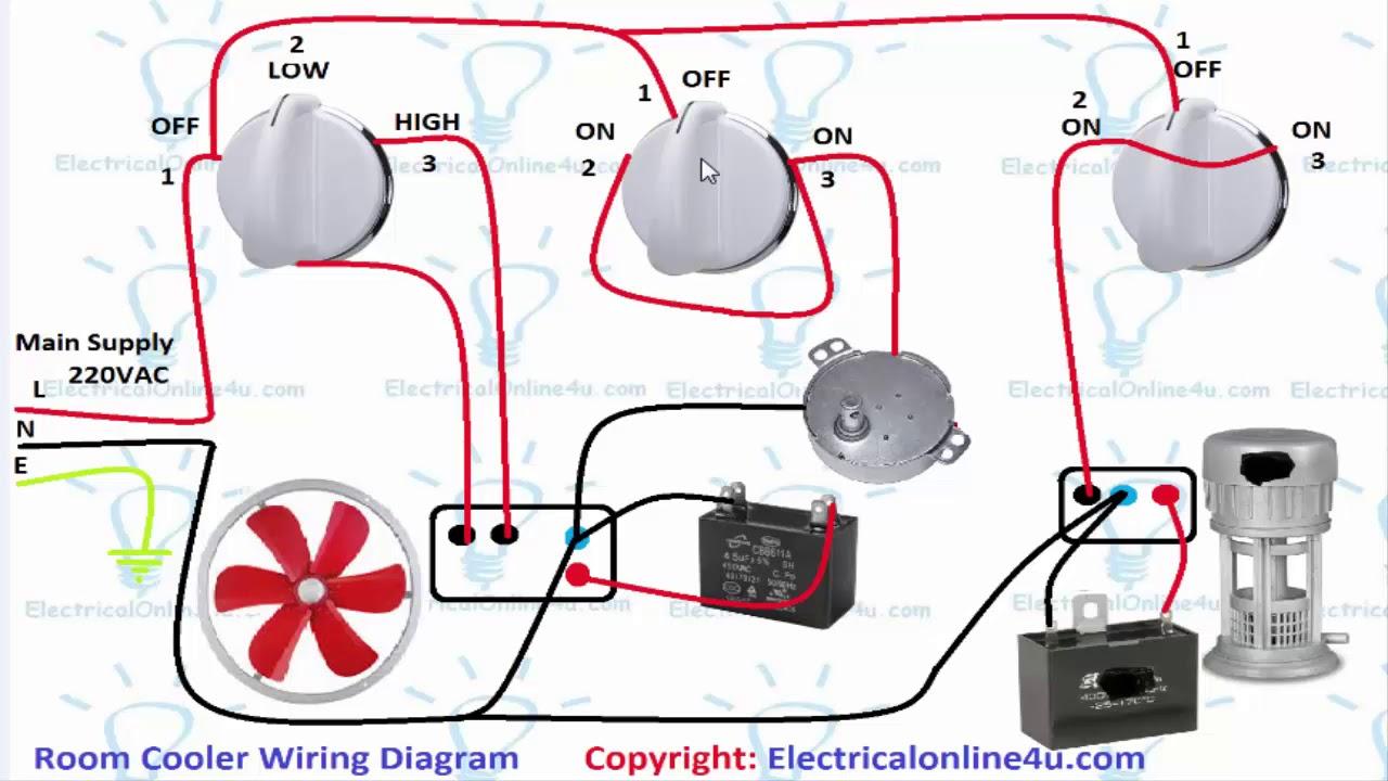 Air Room Water Cooler Wiring Diagram (UrduHindi)  YouTube