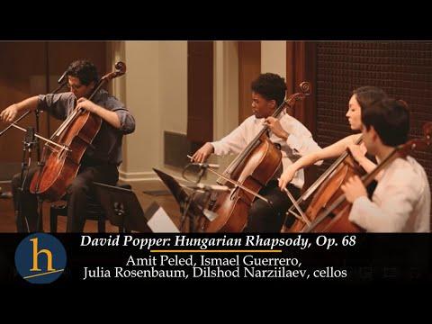 Heifetz 2017: David Popper: Hungarian Rhapsody, Op. 68 | Amit Peled & 3 cellos