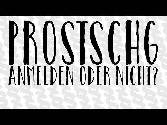 Anmelden oder nicht anmelden - ProstSchG 2017 Sexarbeit Josefa Nereus