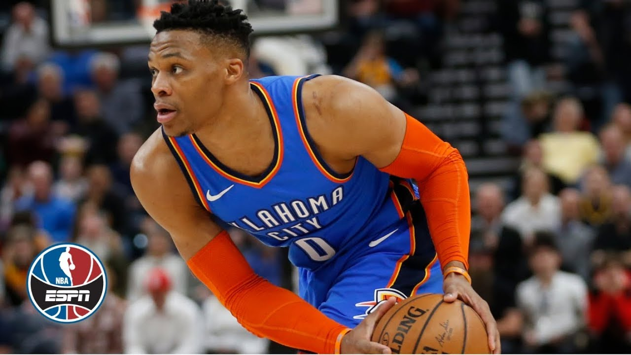 Russell Westbrook S Near Triple Double Helps Thunder Top Jazz Nba