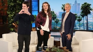 '13 Reasons Why' Stars Katherine Langford and Dylan Minnette's Talk Show Debut thumbnail