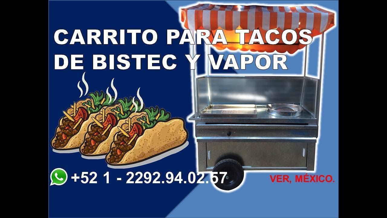 Carrito para tacos de vapor y bistec ml grupo halley for Carritos y camareras de cocina