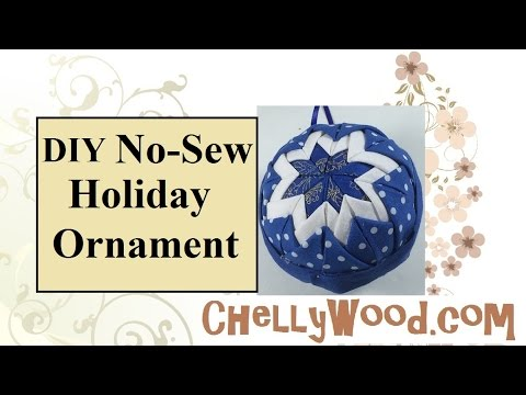 Quilted Holiday Ornament Tutorial With FREE Pattern - YouTube