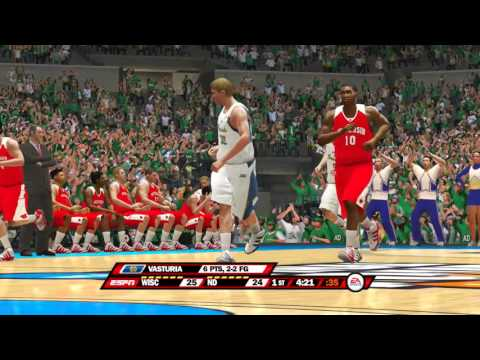 NCAA Basketball 10 USER EAST REGION SEMI FINALS 2016 Wisconsin Badgers vs Notre Dame Fighting Irish