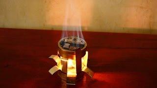 cara membuat kompor trangia minyak tanah api biru