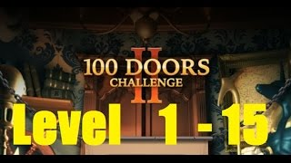 100 Doors: Hidden objects  100 Дверей: Сложная игра 100 Doors Challenge 2 Level 1 - 15 Walkthrough