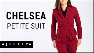 Petite Burgundy suit jacket and trousers - Chelsea Burgundy suit by Jeetly