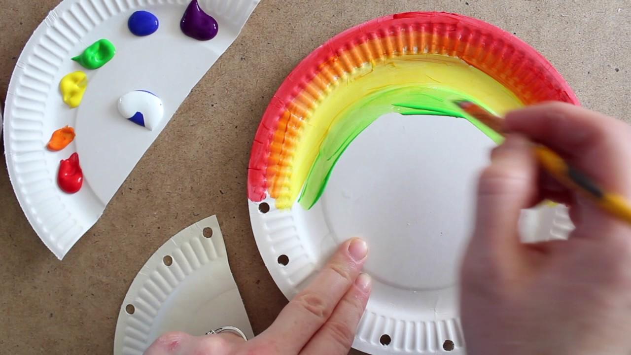 Rainbow Paper Plate Bag Youtube