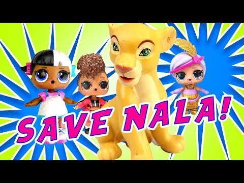 The Lion King & LOL Surprise Dolls Spin the Wheel Mystery Game! W/ Disney Princesses & Simba