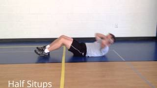 StewSmith Fitness Library:  Half Situps