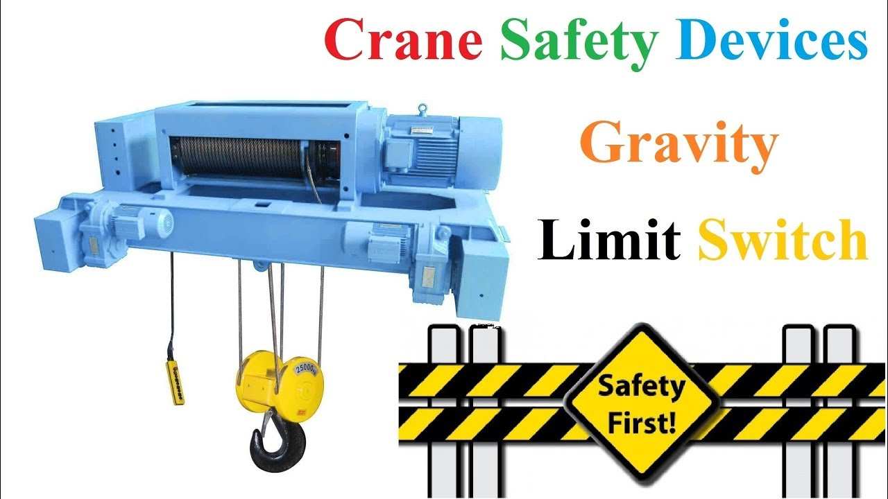 overhead crane or eot crane safety devices gravity limit switch working principle [ 1280 x 720 Pixel ]