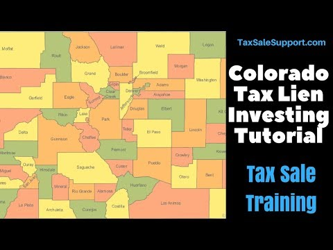 Colorado Tax Sale 2016 information for tax lien investors