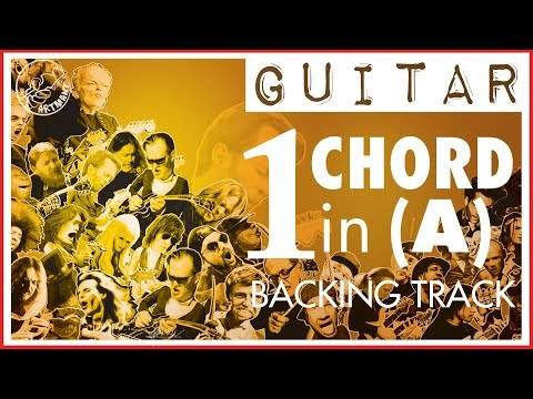 One Chord Backing Track in A