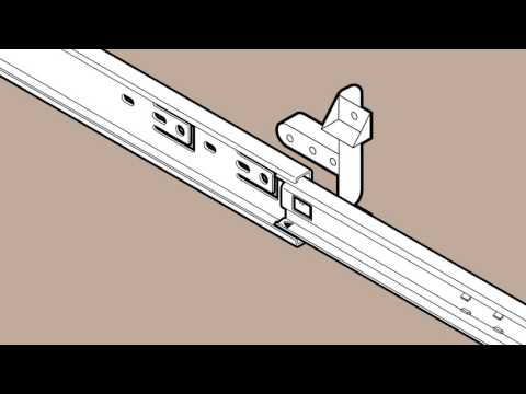 Liberty European Bottom Mount Drawer Slide Installa