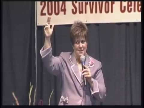 Becky Olson speaks at Komen Survivor Luncheon