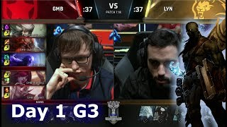 Gambit vs Lyon Gaming   Day 1 of S7 LoL Worlds 2017 Play-in Stage   GMB vs LYN G1