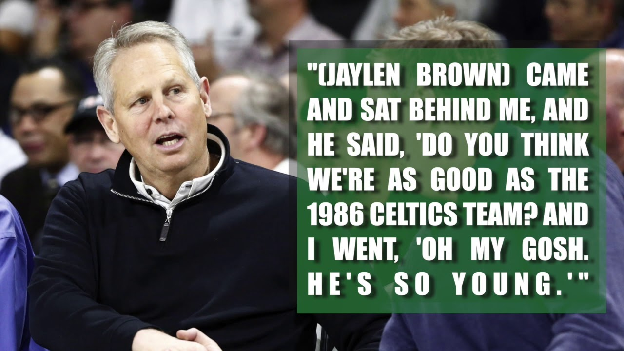 Jaylen Brown asked Danny Ainge a ludicrous question last season