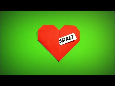 How to Make a Paper Heart with a Secret Gift for Lovers on Valentine's Day DIY - Easy Origami