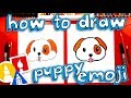 How To Draw The Puppy Emoji 🐶