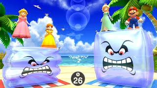 Mario Party The Top 100 MiniGames - Princess Vs luigi Vs Mario Vs Waluigi (Minigame Island)