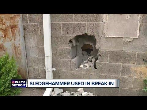 Man in custody after sledgehammer used in break-in at metro Detroit business