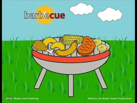 The Barbecue Song for Kids | Learn Food Vocabulary