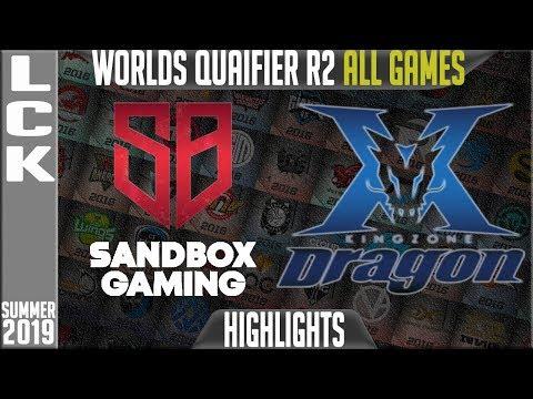 SB vs KZ Highlights ALL GAMES   LCK Summer 2019 Worlds Qualifier - Sandbox Gaming vs King Zone