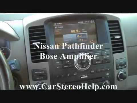 NISSAN PATHFINDER AMPLIFIER REMOVAL AND REPLACEMENT - YouTube