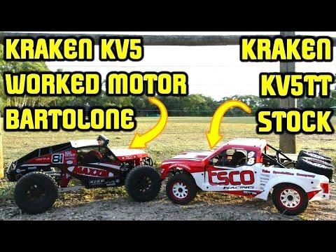KRAKEN KV5 BARTOLONE MOD MOTOR & KV5TT STOCK 1/5 BEASTS! First Run