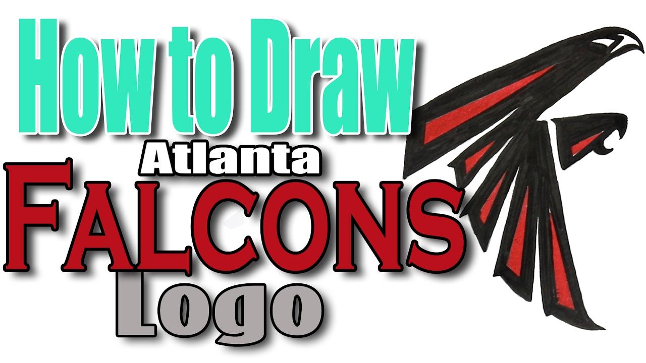 How To Draw The Atlanta Falcons Logo Youtube