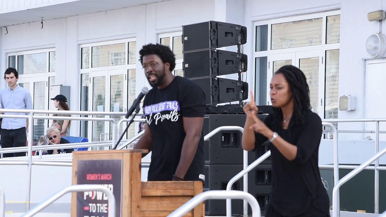 "Darius V. Daughtry performs ""Fight"" @ Women's March Miami 2018"