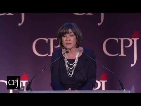 Amanpour receives Press Freedom Award