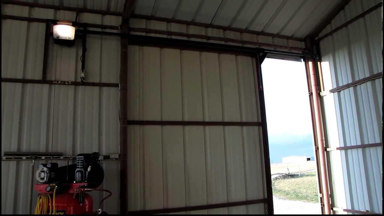 10X10 sliding door opener  YouTube