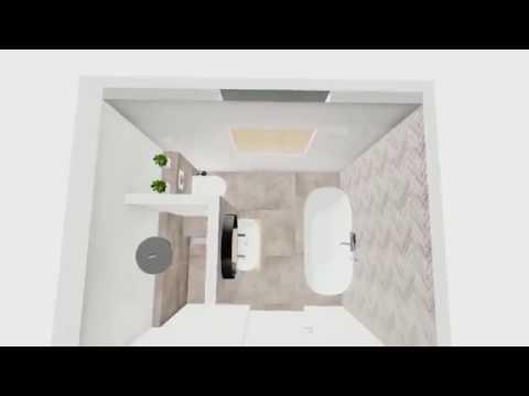 impressie vernieuwde badkamer Margrietstraat 75 in Waalwijk - YouTube