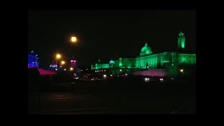 Watch: Rashtrapati Bhawan, North Block and South Block illuminated on Independence Day eve