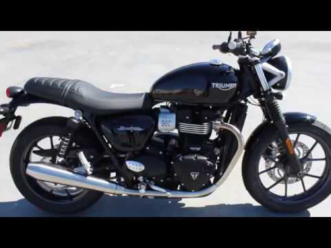 2018 triumph street twin gloss black youtube. Black Bedroom Furniture Sets. Home Design Ideas