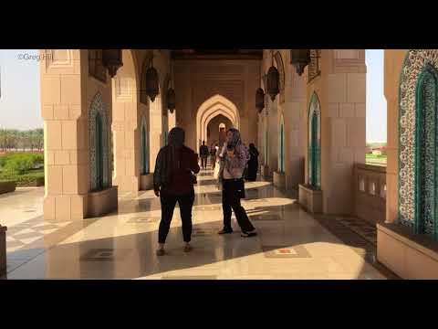 Sultan Qaboos Mosque Muscat in 4K