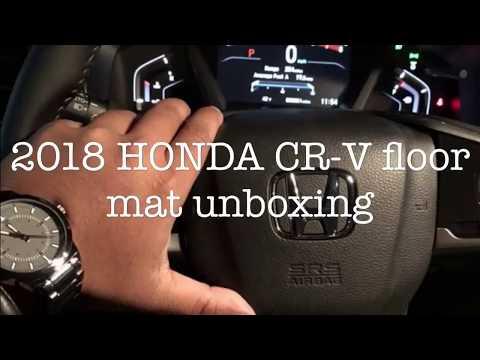 2018 HONDA CR-V genuine OEM floor mats unboxing and install