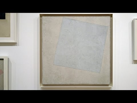 A new world after the Russian Revolution: Malevich, Suprematist Composition: White on White